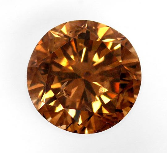 Foto 2, NATURAL FANCY INTENSE ORANGY BROWN 1,17 ct BRILLANT HRD, D6189