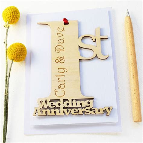 personalised wedding anniversary card by hickory dickory