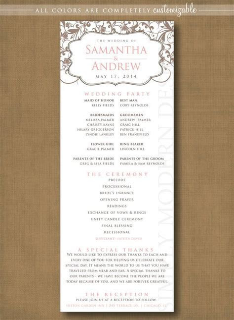 16 best Wedding program template images on Pinterest