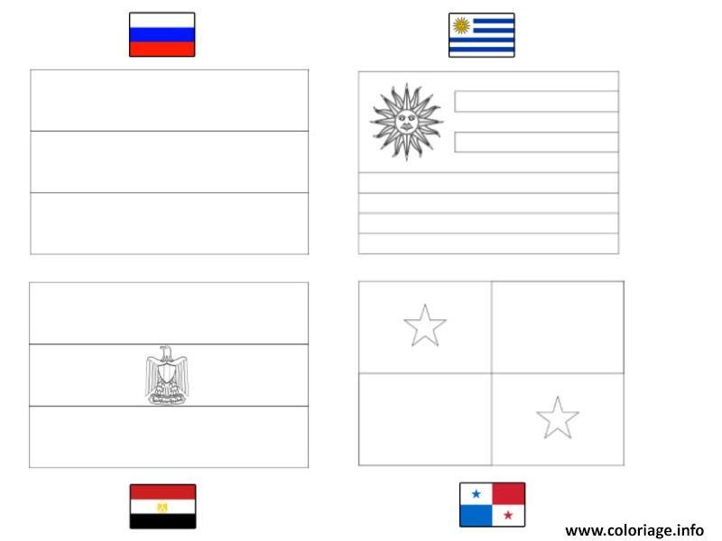 Coloriage Fifa Coupe Du Monde 2018 Groupe A Russie Uruguay Egypte