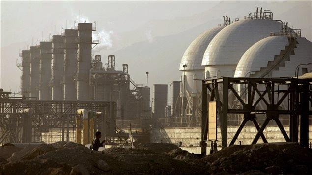Raffinerie de Assalouyeh en Iran