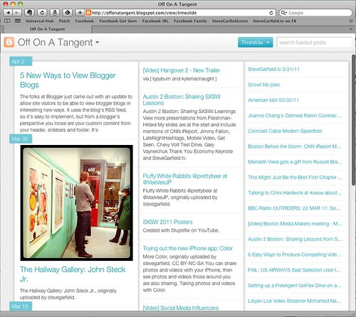 Blogger Timelide View