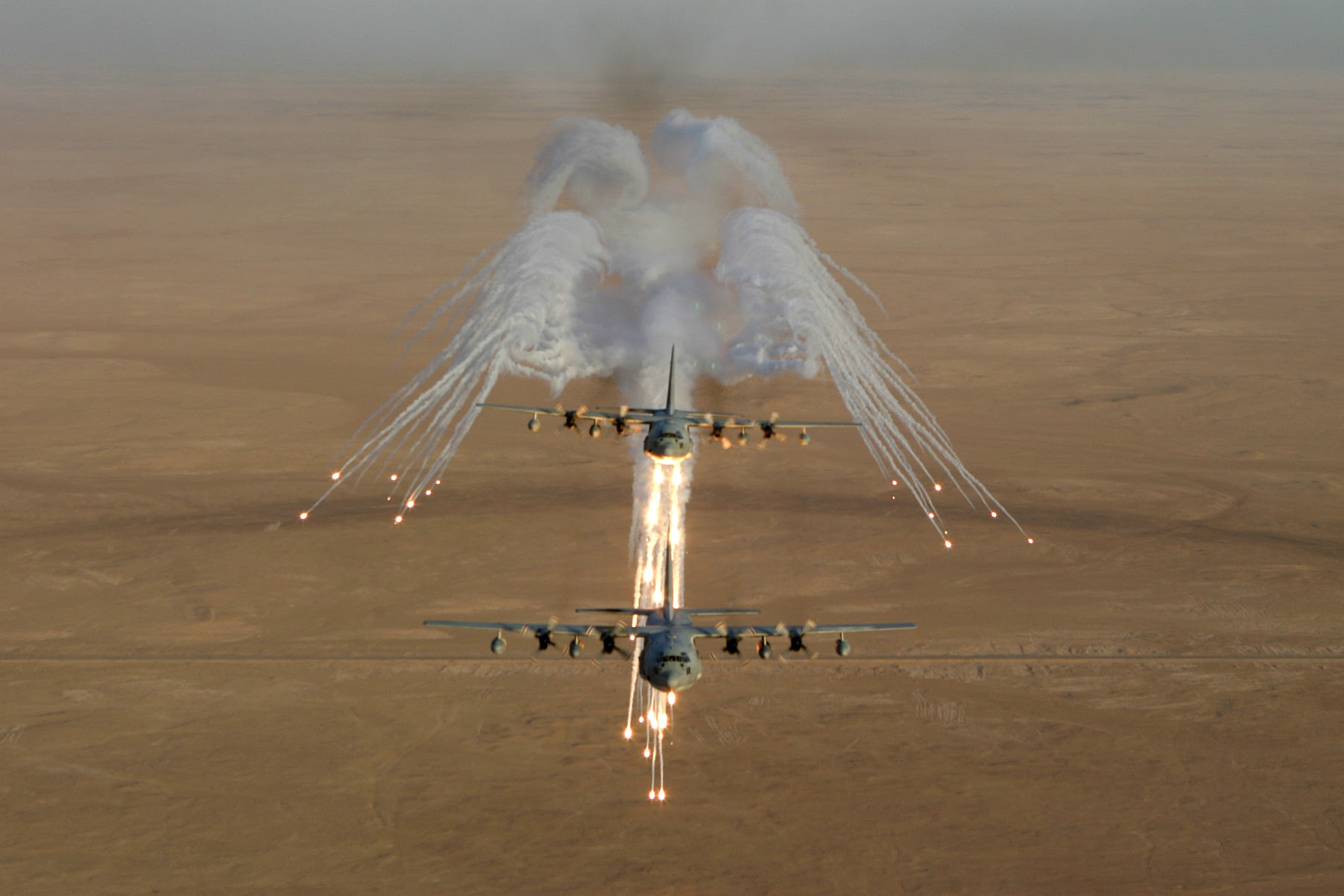 Flares From Kc 130 Hercules Aircraft Pic Pics