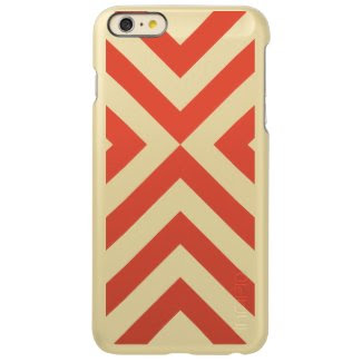Orange and White Chevrons Incipio Feather® Shine iPhone 6 Plus Case