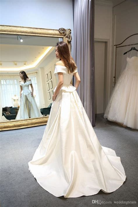 Discount Hot Sale Two Pieces Jumpsuits Wedding Dresses A