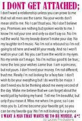I Dont Get Attached Break Up Quote Quotespicturescom