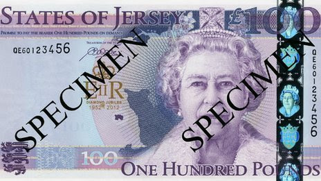 States of Jersey £100 note