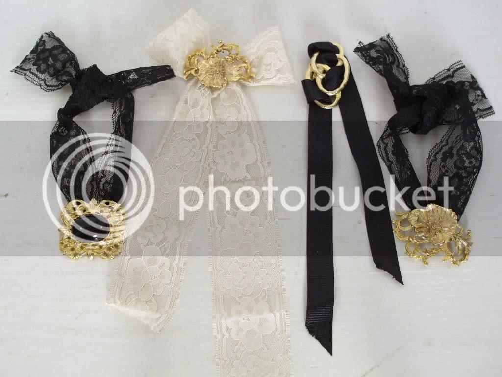 DIY Lace Bracelet and Chocker Necklace