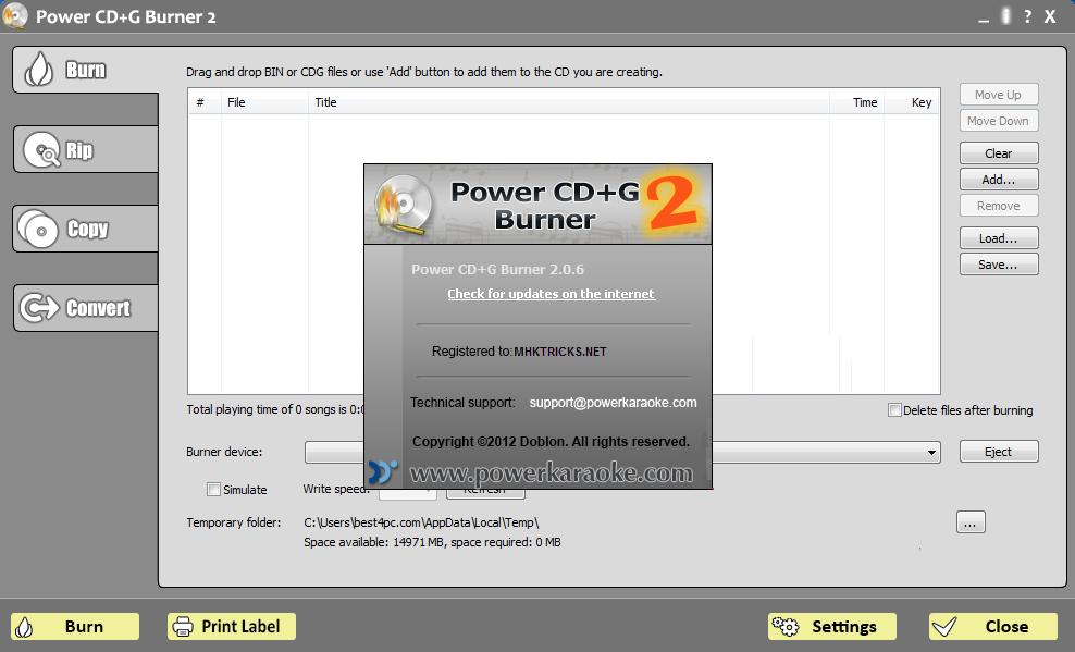 Power cd g burner download.