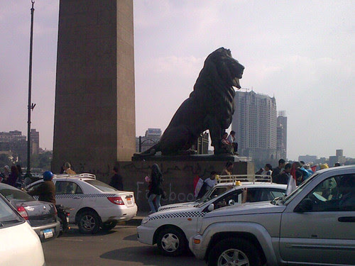 entrance of Qasr Al Nil bridge, Cairo - #Jan25 Egypt Revolution