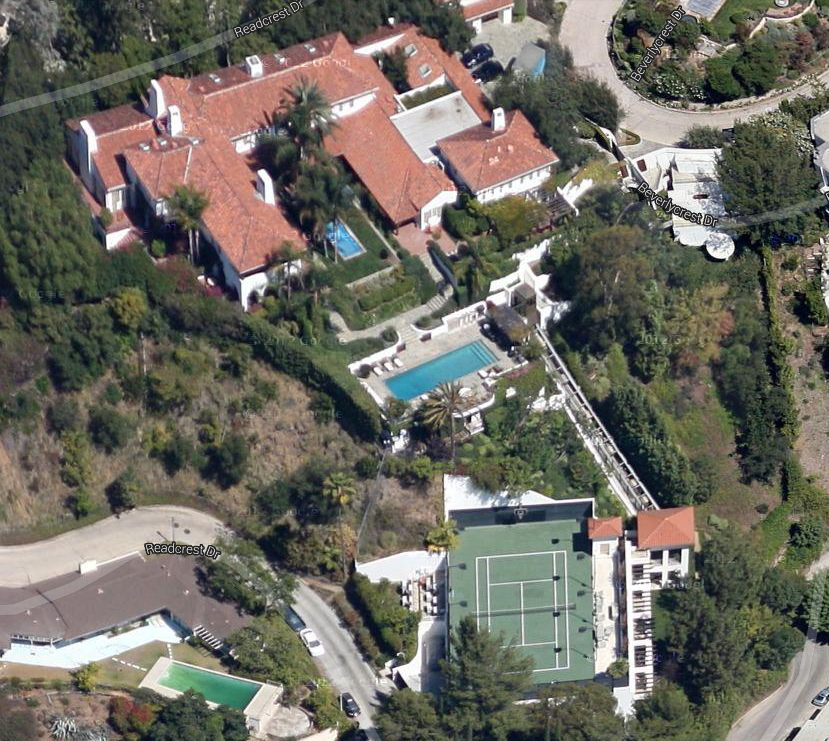 In 1997, Allen bought a 12,952-square-foot Mediterranean-style home in Beverly Hills, California. Among its ridiculous amenities is a funicular that shuttles guests from the pool deck to a tennis court located on a lower part of the property.