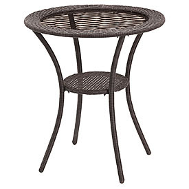 View Wilson & Fisher® Resin Wicker Glass Top Bistro Table ...