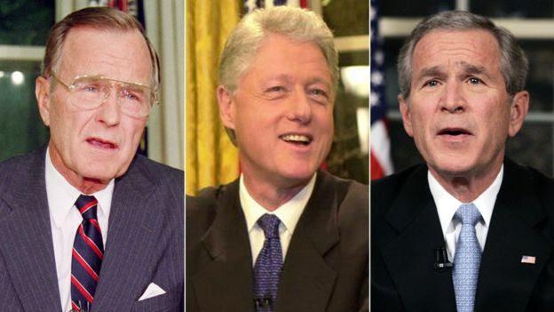 Bush, Clinton y George W. Bush