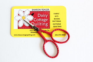 scissors from Sharon at Daisy Cottage Quilting