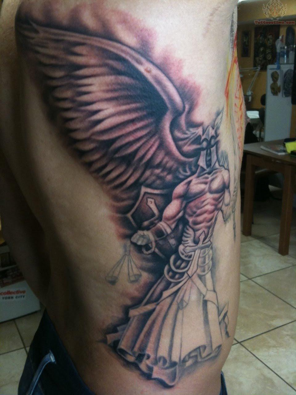 Angel Justice Tattoo