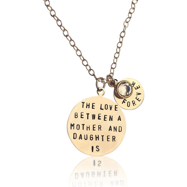 Love Between A Mother And Daughter Is Forever Gold Necklace