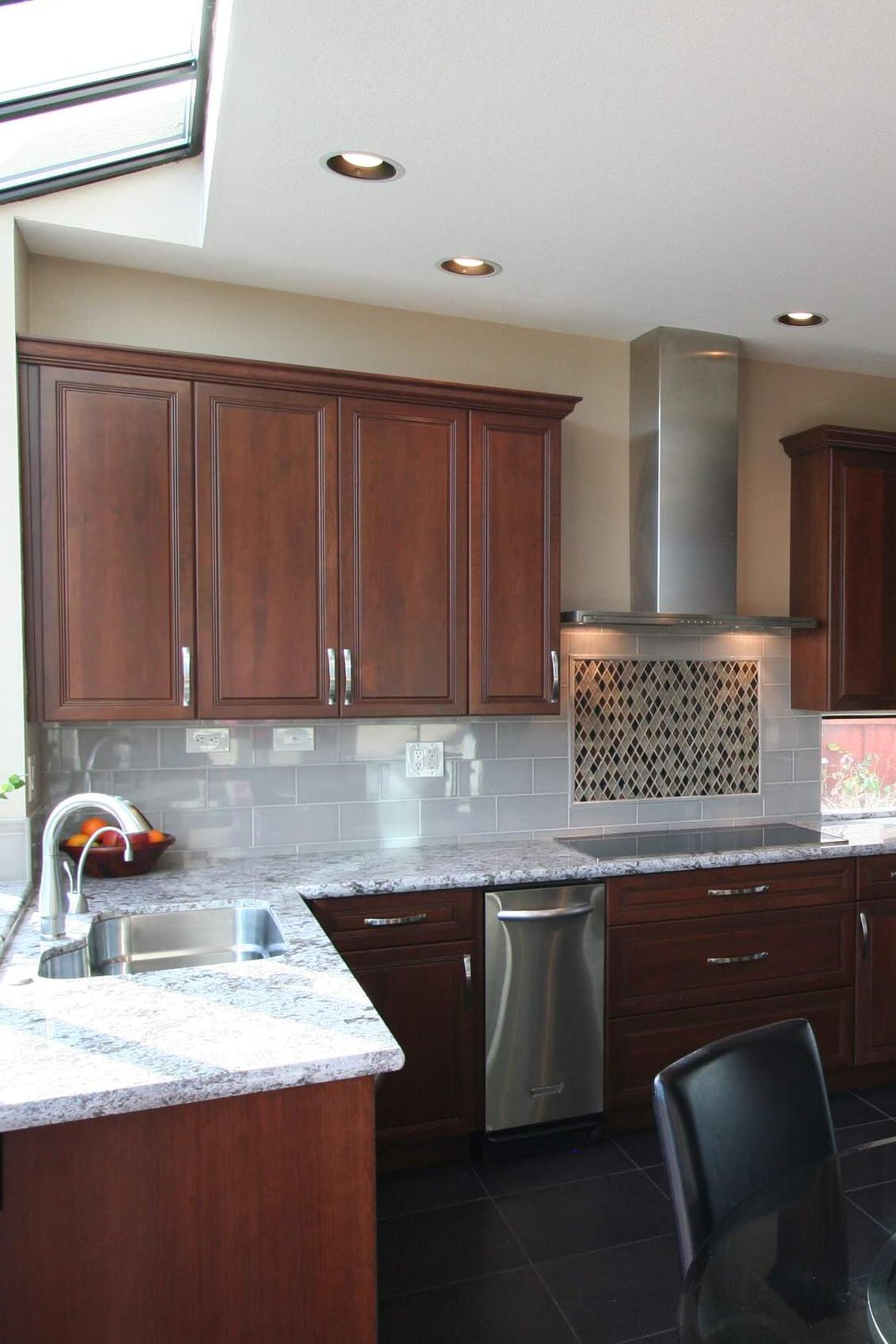 Dark Cabinets With White Granite Countertops Countertopsnews