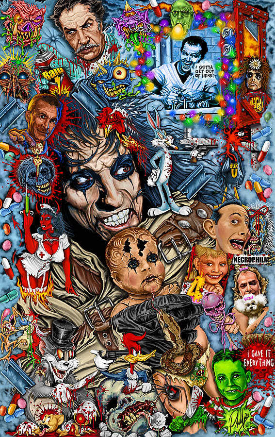Image result for alice cooper looney tune image