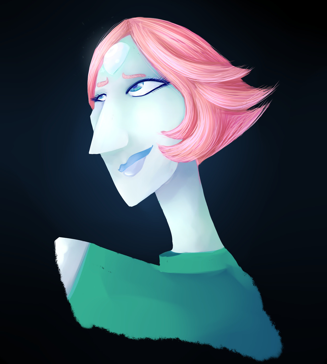 I haven't painted in such a long time, so i decided to paint pearl to get back into a painting mood my painting skills are a bit rusty, but I'm pretty happy with how this came out nonetheless!