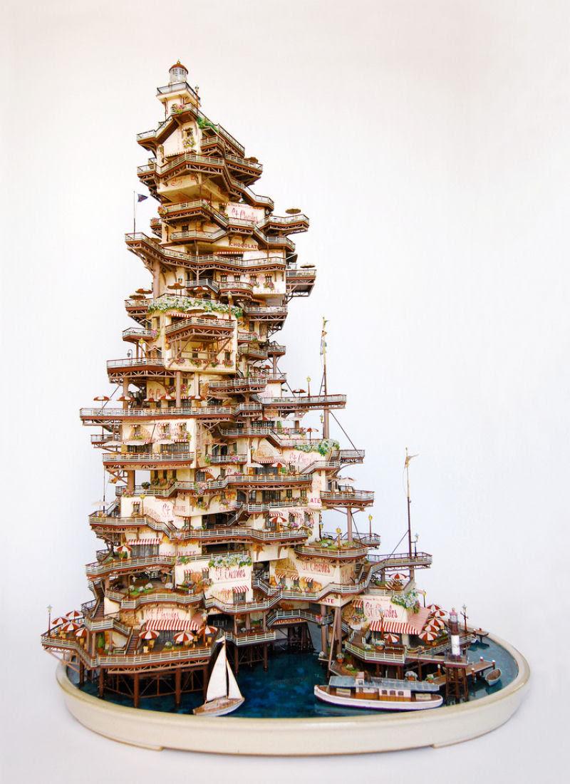 As intrincadas esculturas em miniatura de Takanori Aiba 10