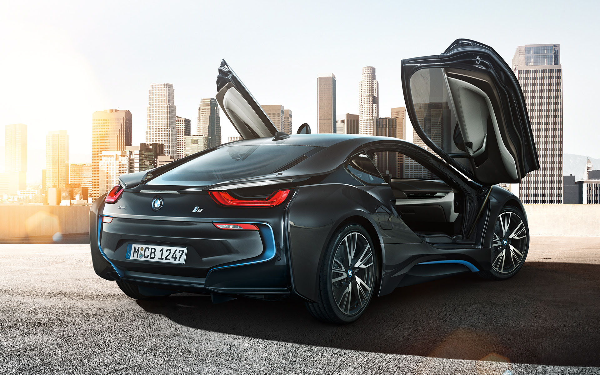 At Launch Time Three Years Ago The BMW I8 Came In Ionic Silver Crystal White And Sophisto Grey Later On Added A Protonic Blue Red