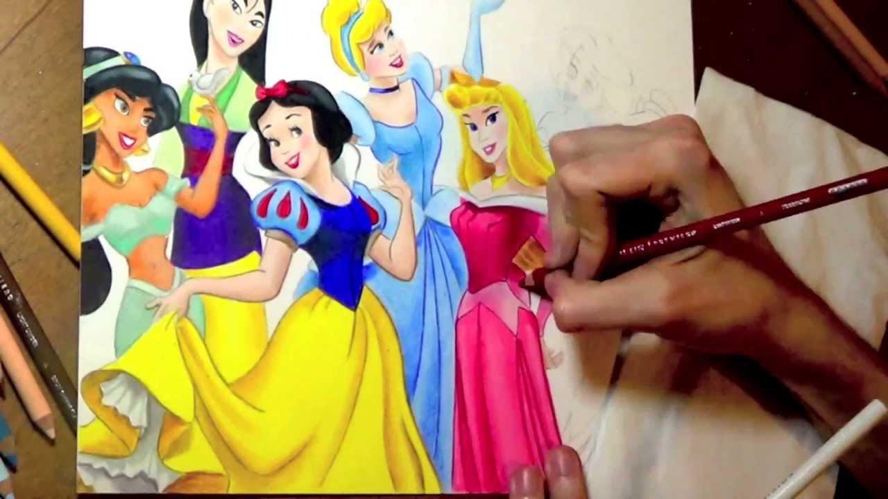 Drawing Disney Princesses - YouTube