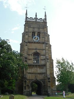 Evesham, the belltower of the former Abbey. Photo by I. Lapa
