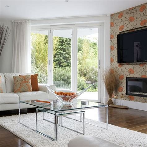living room wallpaper feature wall  grasscloth wallpaper