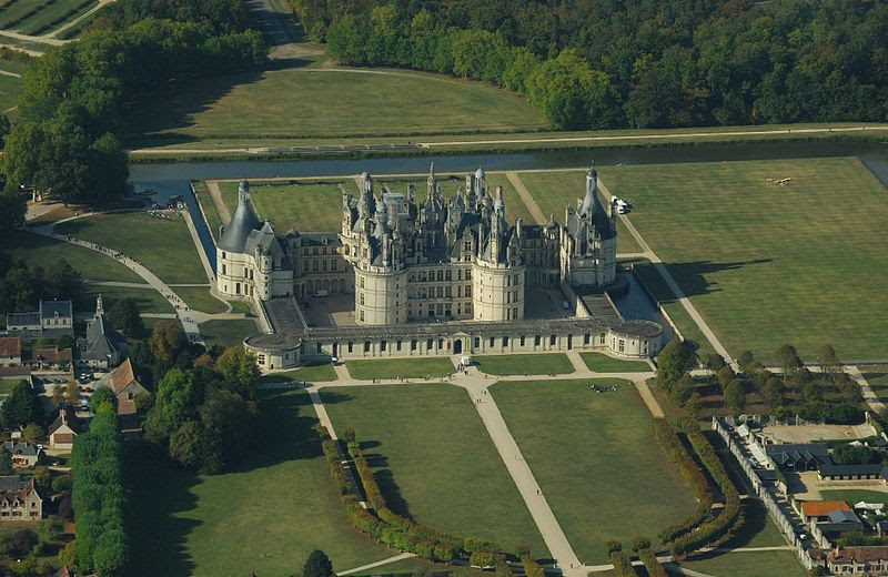 File:Chambord castle, aerial view.jpg