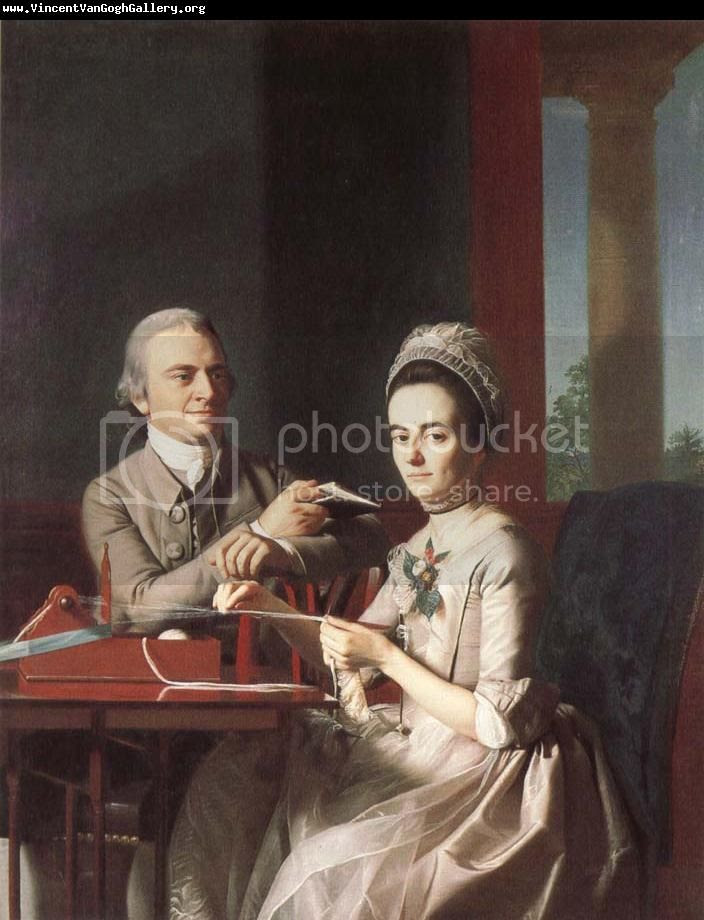 Copley portrait of Founding Father and wife, Thomas and Sarah Morris Mifflin