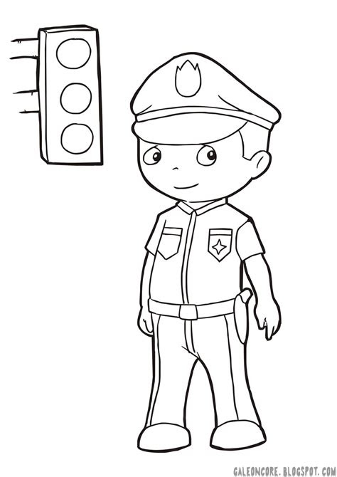 Gambar Sketsa Topi Polisi Arsip Tembi Net