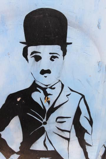 Pintura en una de las paredes de la vivienda de Iván Nogales.