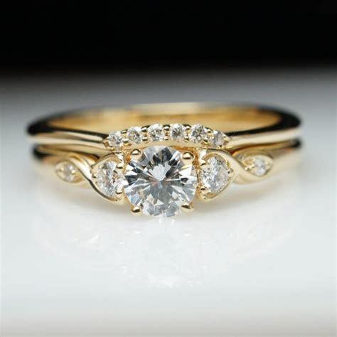 Vintage Antique Style Diamond Engagement Ring & Wedding