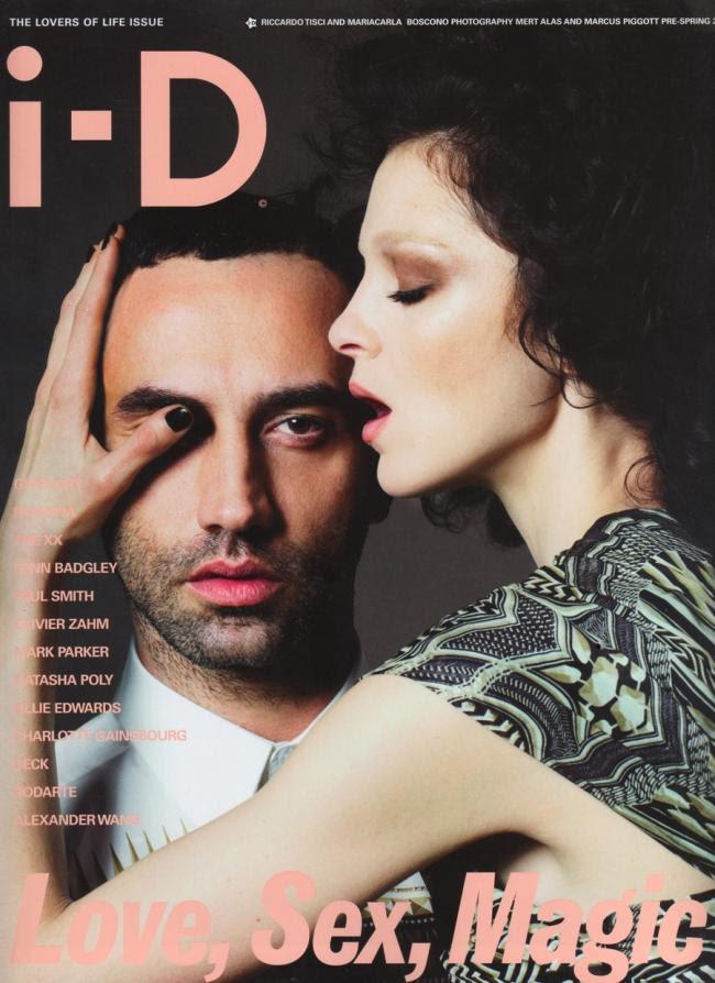 Ricardo Tisci & Mariacarla Boscono in i-D