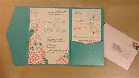 DIY Invites Coral & Teal (Mostly DIY)   Weddingbee Photo