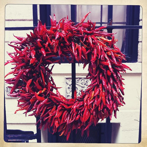 chili wreath, Bedford St., Greenwich Village