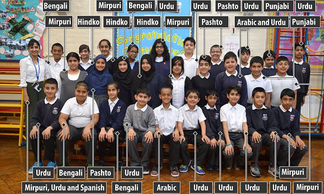 Birmingham primary has class where EVERY pupil speaks English as second language