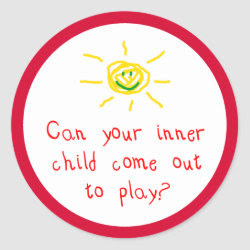 Can your inner child come out and play? sticker