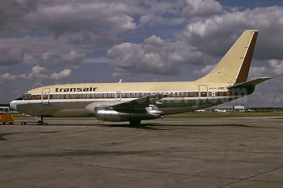 Transair (Canada) Boeing 737-2A9C CF-TAO (msn 20205) YWG (Bruce Drum). Image: 100624.