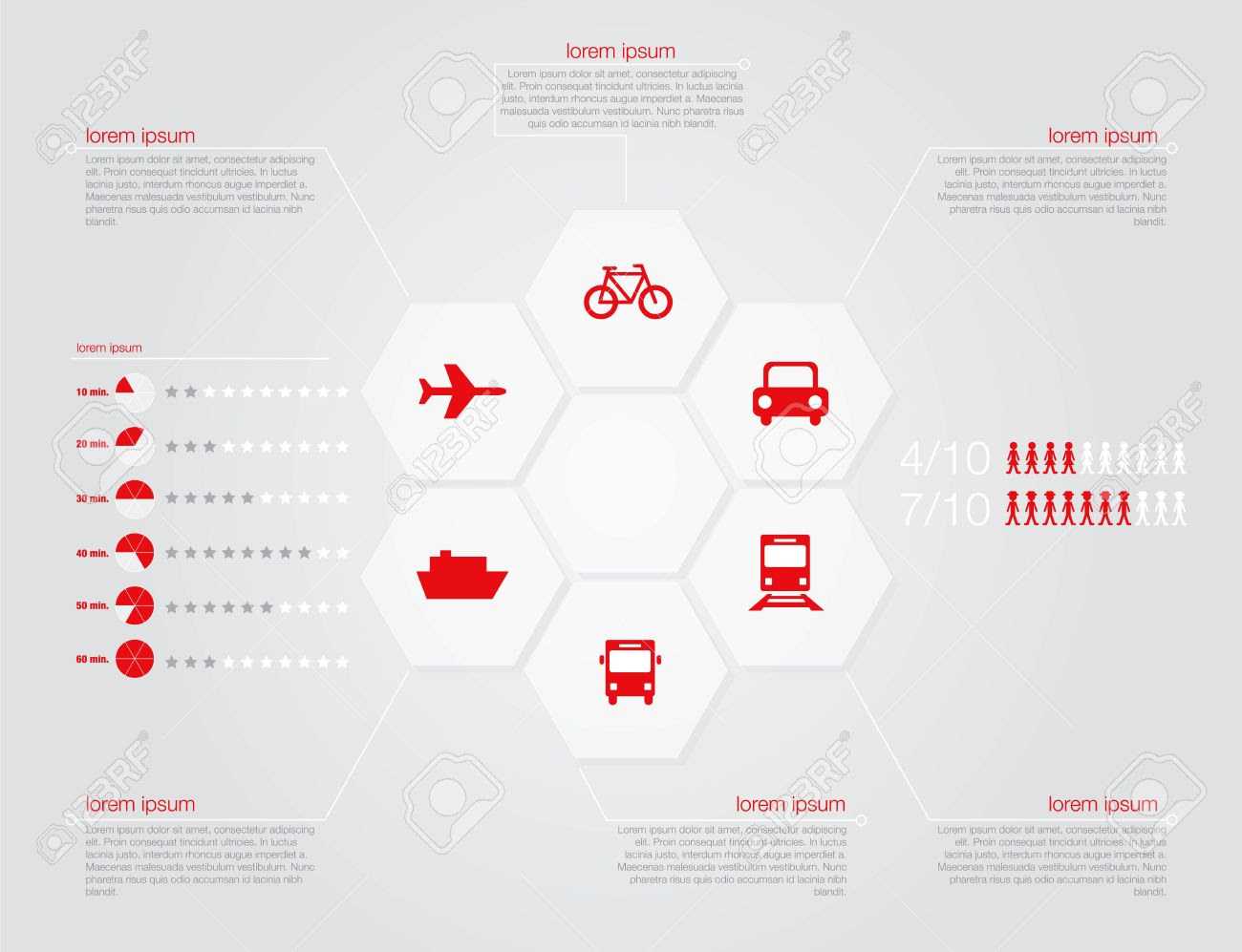 Infographic Of Transportation Concept In Editable Vector Format ...