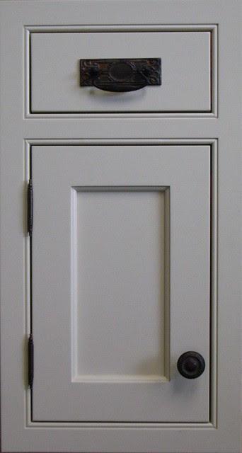 Maple Shaker Cabinet Door set inside a Beaded Face Frame ...