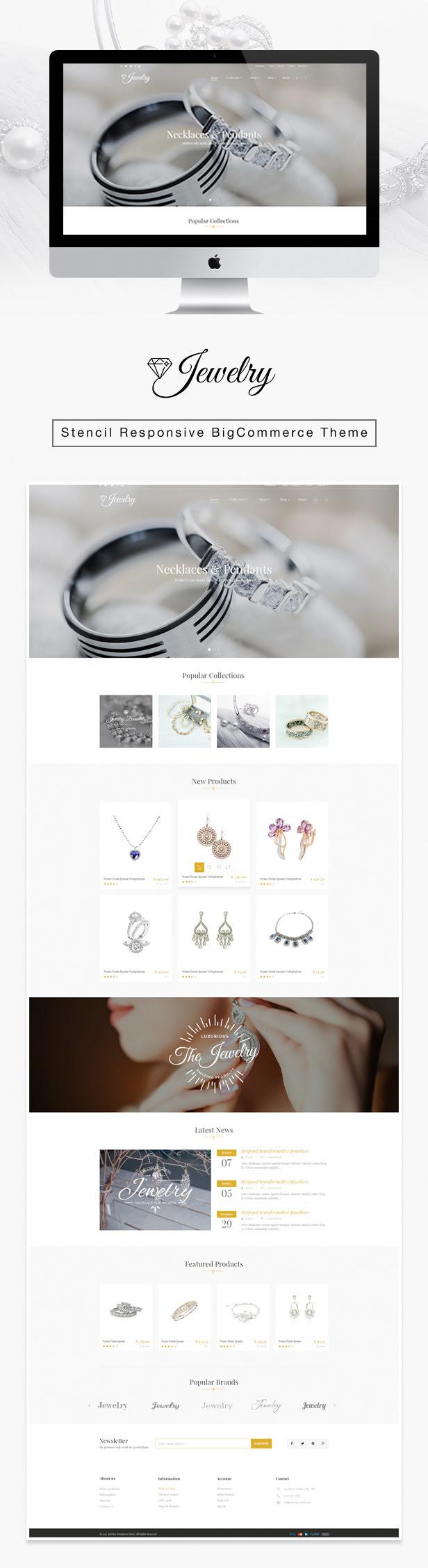 Jewelry Responsive BigCommerce Theme