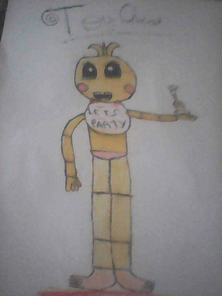 Toy Chica Dibujo Five Nights At Freddys Amino