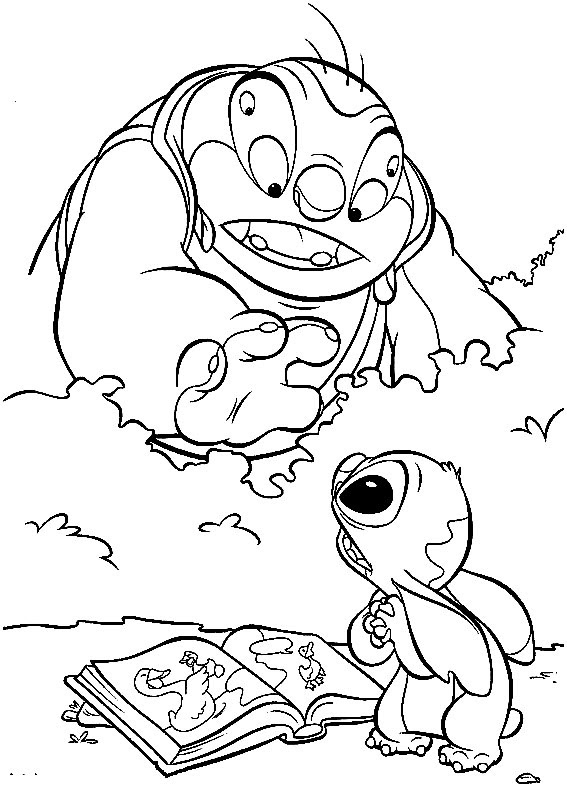 Gratuitos Dibujos Para Colorear Lilo Y Stitch Descargar E Imprimir