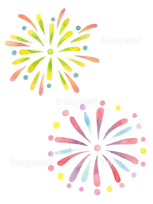 打ち上げ花火 水彩イラストの画像素材31087773 イラスト素材なら