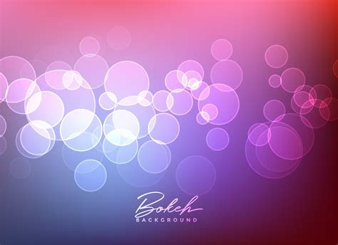 shiny bokeh lights vector background