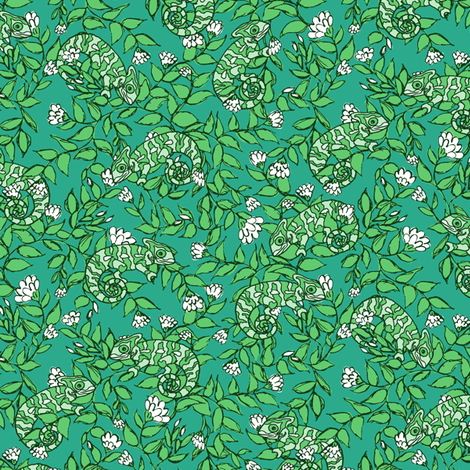 Chameleons in Green
