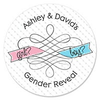 Gender Reveal Party Stickers