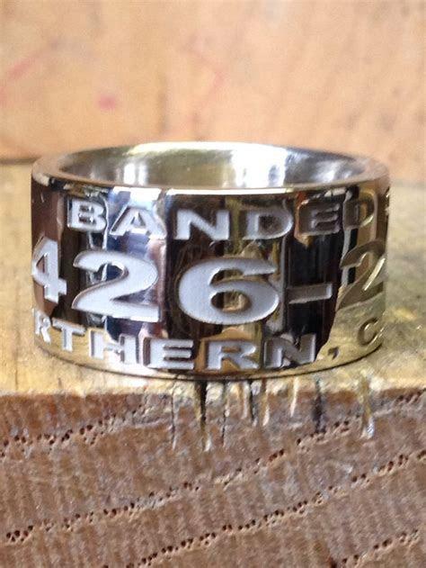 14K white gold custom duck band ring. www.duckbandbrand