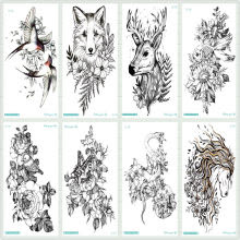 Popular Flower Wolf Tattoo Buy Cheap Flower Wolf Tattoo Lots From